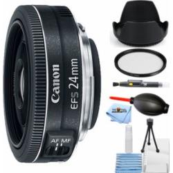 Canon EF-S 24mm f/2.8 STM Lens STARTER BUNDLE