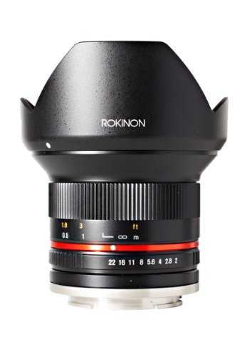 Rokinon 12mm F2.0 NCS CS Ultra Wide Angle Lens Sony E-Mount (NEX) (Black)  (RK12M-E)