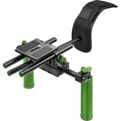 """IMORDEN IR-02 Camera Shoulder Mount Support Rig Video Making/Filmaking Handle Kit (1/4"""" Screw) for Dslr Camera and Video Camera with Comfortable Pad and Hand Grips(up to 6kg/13lbs)"""