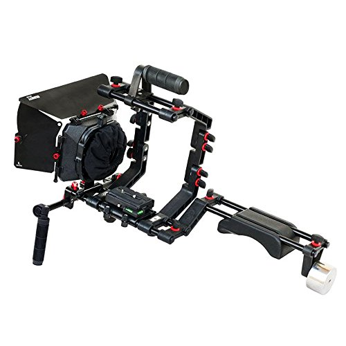 filmcity dslr camera shoulder support rig kit with cage matte box dv hdv - Allshopathome-Best Price Comparison Website,Compare Prices & Save