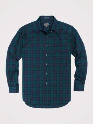 Men's Long Sleeve Button Front Sir Pen Shirt