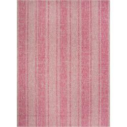 Grady 8′ x 11′ Indoor/Outdoor Rug – Light Gray/Fuchsia (Light Gray/Pink) – Safavieh