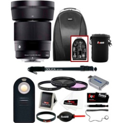 Sigma 30mm f/1.4 DC DN Lens for Sony E-Mount w/ Bundle