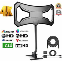 Grell 150Miles Ultra Outdoor TV Antenna – Upgraded HDTV Antenna Long Range Reception for 4K FM/VHF/UHF 1080P Free Channels Amplified Digital TV Antenna RG-6 Copper with 33ft cable