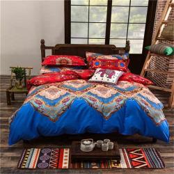 Full/Queen/King Size Bedding Sets Bohemian Style Reversible 4pcs Duvet Cover Sets Pillowcases Comforter Covers 3pcs – Pattern 4