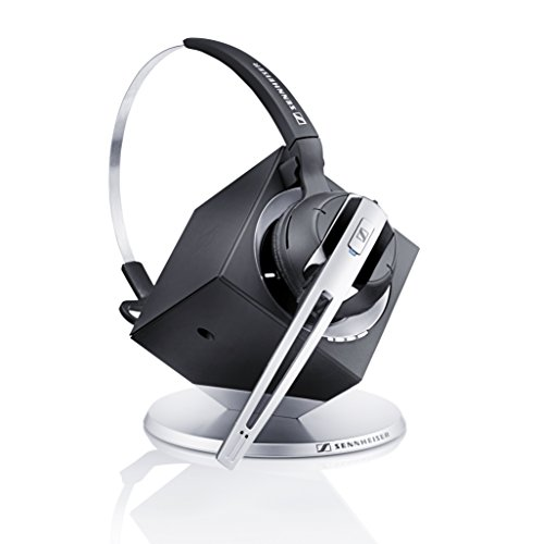 Sennheiser OfficeRunner Convertible Wireless Office Headset with Microphone –  DECT 6.0 (Classic Silver)