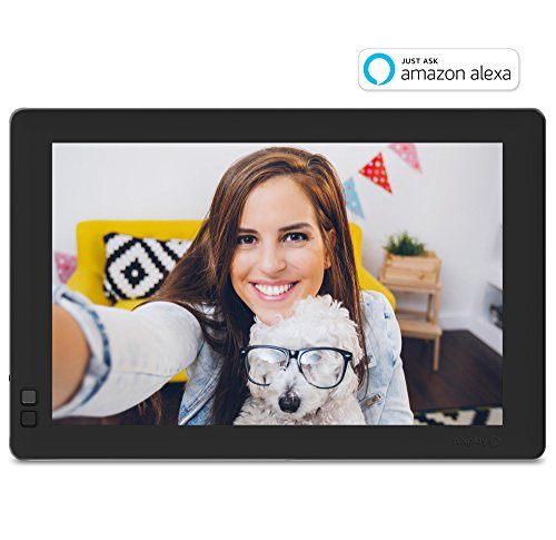 Nixplay W10B Seed 10.1″ Widescreen Wi-Fi Cloud Digital Photo Frame with IPS Display, iPhone & Android App, iOS Video Playback, Free 10GB Online Storage, Alexa Integration and Hu-Motion Sensor, Black