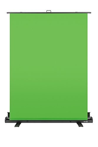Elgato Green Screen — Collapsible chroma key panel for background removal with auto-locking frame, wrinkle-resistant chroma-green fabric, aluminum hard case, ultra-quick setup and breakdown
