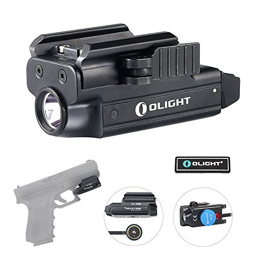 Olight Bundle PL MINI Valkyrie Rechargeable Flashlight Cree LED 400 Lumen with magnetic usb charger and patch