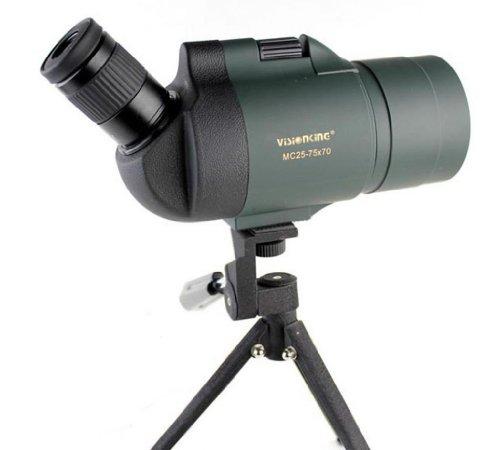 Visionking 25-75×70 Maksutov Spotting Scope 100% Waterproof Bak4 with Tripod(Green)