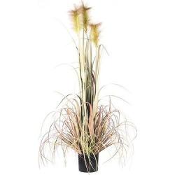 Artificial Reed Grass w/Black Pot (60) Green/Purple – Vickerman