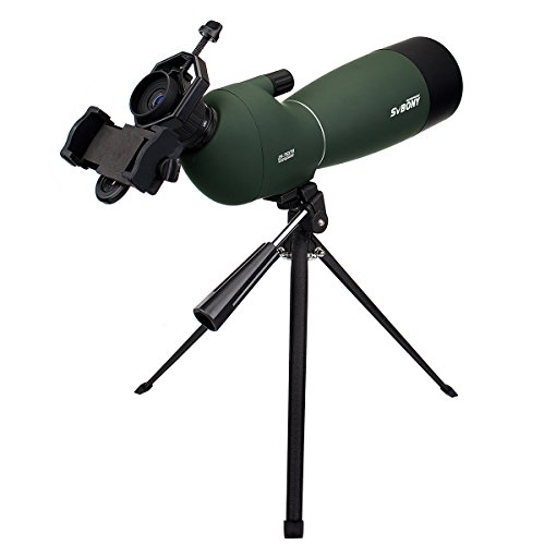 SVBONY Spotting Scope Telescope 25-75x70mm Bird Scopes for Shooting Birdwatching Scope in Shooting Range Bak4 Prism with Tripod and Phone Adapter