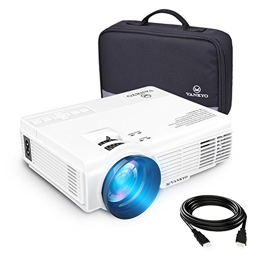 """vankyo LEISURE 3 (Upgraded Version) 2200 lumens LED Portable Projector with Carrying Bag, Video Projector with 170"""" and 1080P Support, Compatible with Fire TV Stick, PS4, HDMI, VGA, TF, AV and USB"""