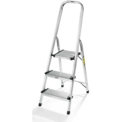 Polder 3-Step Lightweight Aluminum Ladder, Grey