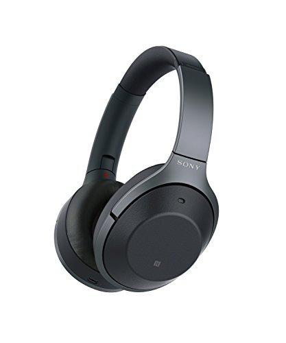 Sony Noise Cancelling Headphones WH1000XM2: Over Ear Wireless Bluetooth Headphones with Case – Black