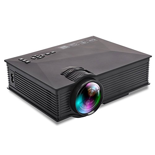 GAOGA Upgraded Mini Projector Wifi LED Full HD Video Projector HDMI, USB, SD, VGA/AV/TV +20% Brighter for Home Theater TV, Laptops, Games and iPhone/Android Smartphones