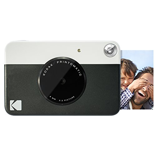 Kodak PRINTOMATIC Digital Instant Print Camera (Black), Full Color Prints On ZINK 2×3 Sticky-Backed Photo Paper – Print Memories Instantly