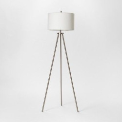 Modern Tripod Floor Lamp – Brushed Nickel – Project 62
