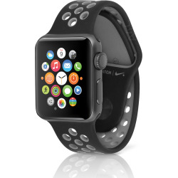 Apple Watch Nike+ 38mm Space Gray Case w/ Sport Band – Gray / Black (Scratch and Dent)