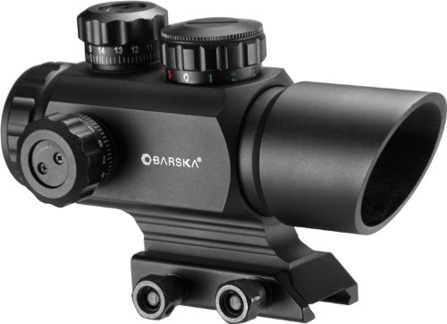 BARSKA AC12176 ARX Multi Reticle Red Dot Optics, 1 x 35mm, Matte Black