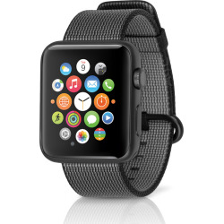 Apple Watch Sport 42mm Space Gray Aluminum Case w/ Woven Nylon Band – Black (Refurbished)