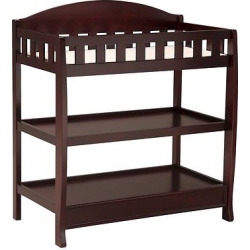 Delta Children Infant Changing Table with Pad – Espresso Cherry