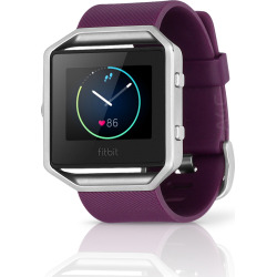 Fitbit Blaze Fitness Smartwatch w/ Heart Rate Monitor (L) – Plum / Silver (Scratch and Dent)