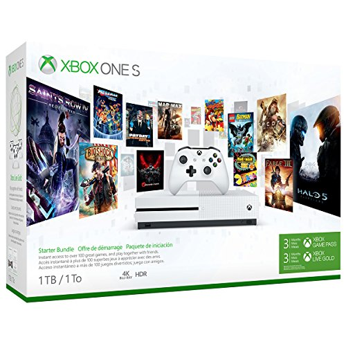 Xbox One S 1TB Console – Starter Bundle