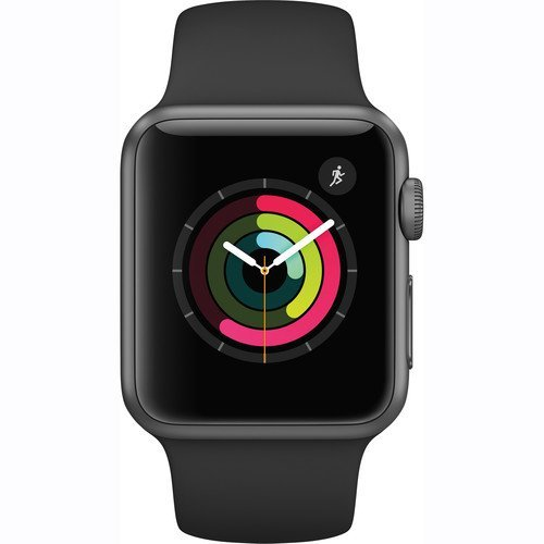 Apple Watch Series 1 Smartwatch 38mm, Space Gray Aluminum Case/ Black Sport Band (Certified Refurbished)