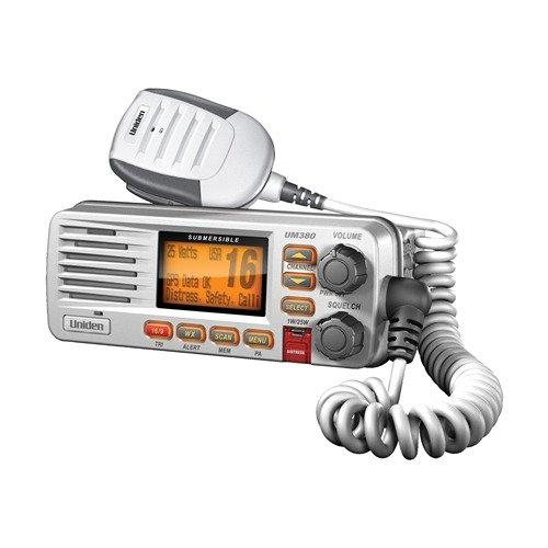 Uniden UM380 Fixed Mount Class D VHF Marine Radio – White