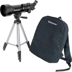 Celestron Travel Scope 70 Portable Telescope, Black
