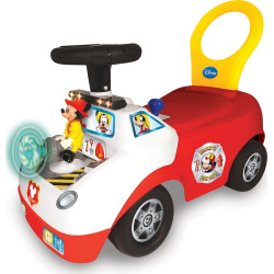 Disney's Mickey Mouse Activity Fire Truck Light & Sound Activity Ride-On Vehicle by Kiddieland, Multicolor