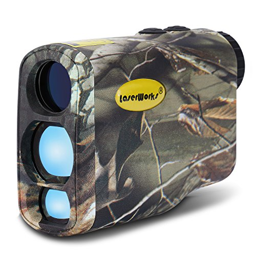 LaserWorks LW1000SPI Laser Rangefinder for Hunting Golf,Fog measurement,Waterproof Camouflage