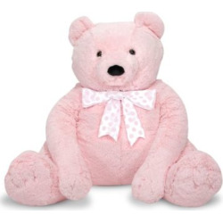 Melissa and Doug Jumbo Pink Teddy Bear, Multicolor