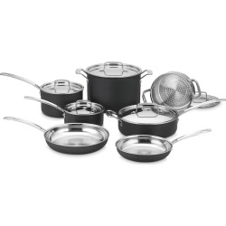 Cuisinart Multiclad Pro Triple Ply Stainless 12-piece Cookware Set, Silver
