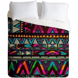 Huipil Lightweight Duvet Cover Queen Neon – Deny Designs, Multicolored