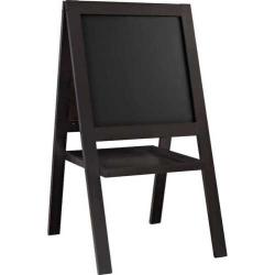 Altra Chalkboard & Dry Erase Board Easel, Dark Brown