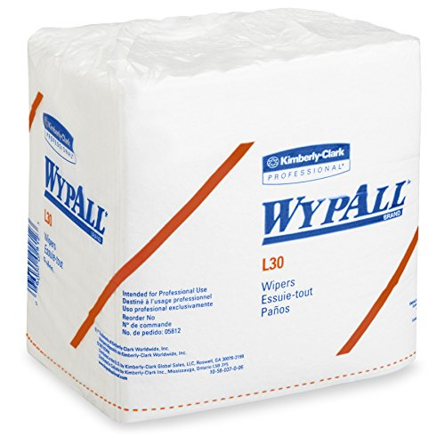 Kimberly-Clark Professional Wypall L30 Wipers – 13″ Length X 12-1/2″ Width, White, 90 Wipers