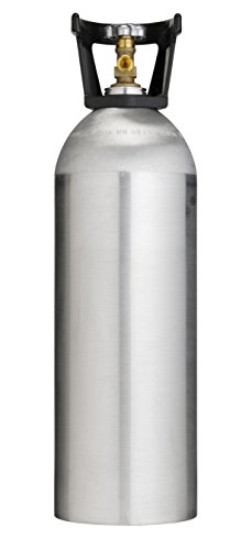 Cyl-Tec 20 lb CO2 Tank – New Aluminum Cylinder with CGA320 Valve and Carry Handle