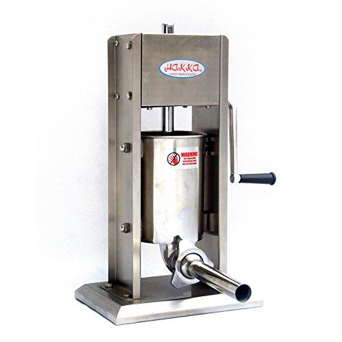 Hakka 7 Lb/3 L Sausage Stuffer 2 Speed Stainless Steel Vertical 5-7 Lb Sausage Maker by HAKKA BROTHER