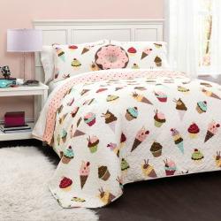 Cupcake Ice Cream Quilt Set, Multicolor