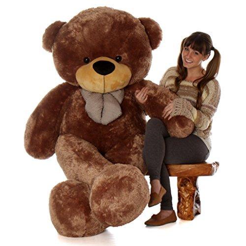 giant teddy brand 6 foot life size mocha brown color big plush teddy