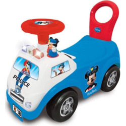 Disney's Mickey Mouse My First Mickey Police Car Light & Sound Activity Ride-On Vehicle by Kiddieland, Multicolor