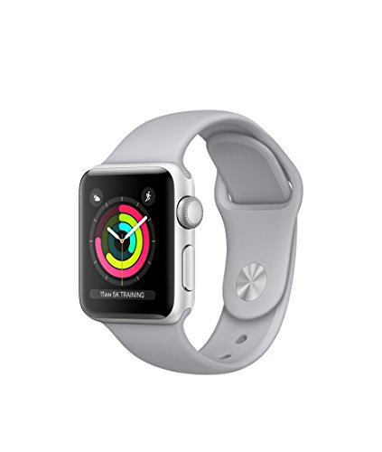 Apple Watch Series 3 – GPS – Silver Aluminum Case with Fog Sport Band – 42mm