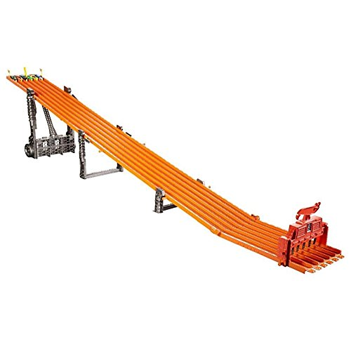 2017 Hot Wheels Racing Alley Fan-Favorite Race Tracks Super 6-Lane Raceway with Lights & Sounds and 6 cars 2.45m/8+ ft long