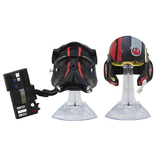 Star Wars: The Force Awakens Black Series Titanium Series First Order TIE FIghter Pilot and Black Leader Poe Dameron Helmets