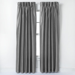 Window Curtainworks Marquee Lined Window Curtain, Grey