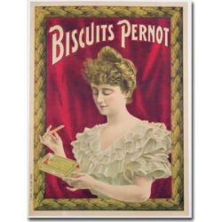 Pernot Biscuits, 1902 24 x 32 Canvas Art, Multicolor