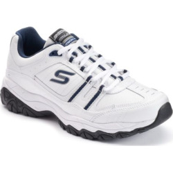 Skechers After Burn Memory Fit Strike On Men's Walking Shoes, Size: 8 Xw, White