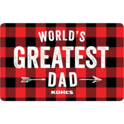 World's Greatest Dad Gift Card, Multicolor